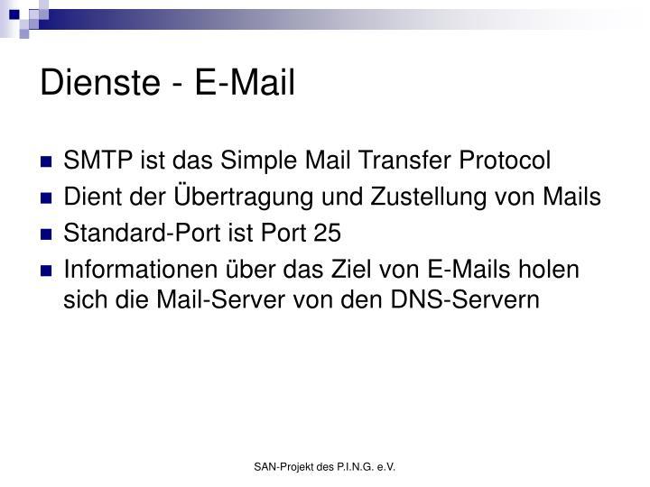 Dienste - E-Mail