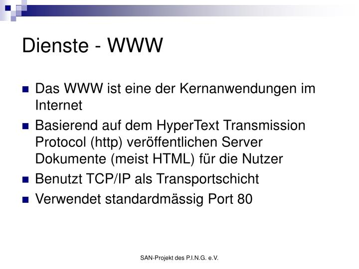 Dienste - WWW