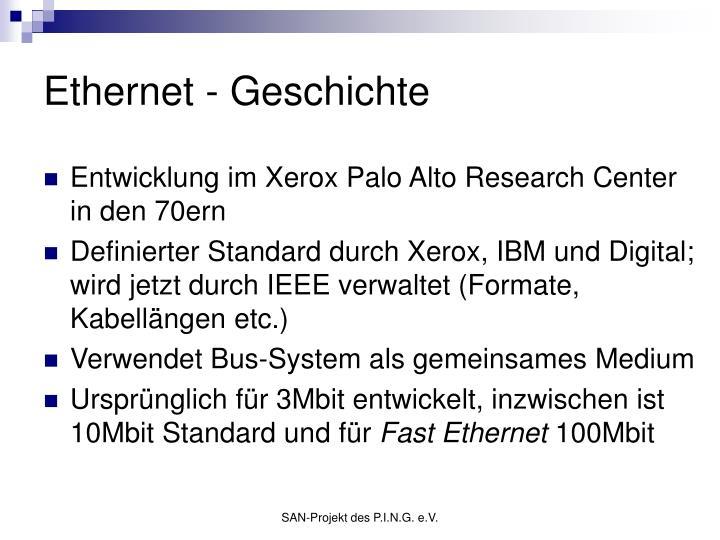 Ethernet - Geschichte