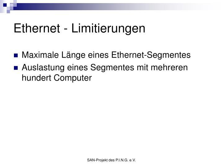 Ethernet - Limitierungen
