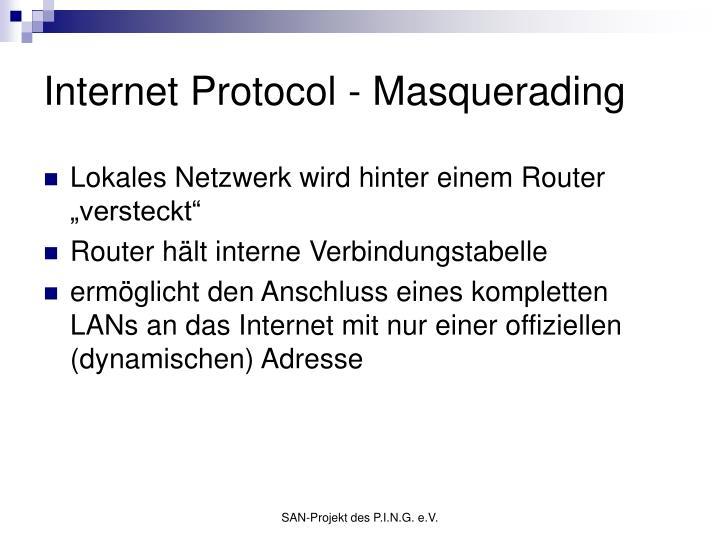 Internet Protocol - Masquerading