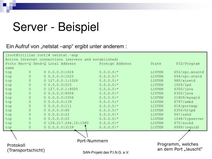 Server - Beispiel
