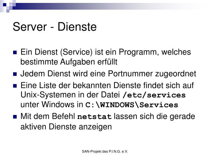 Server - Dienste