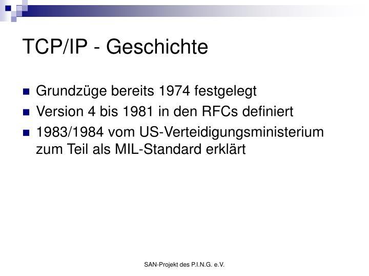 TCP/IP - Geschichte