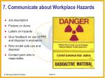7 communicate about workplace hazards