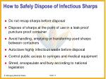 how to safely dispose of infectious sharps