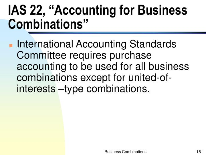 "IAS 22, ""Accounting for Business Combinations"""