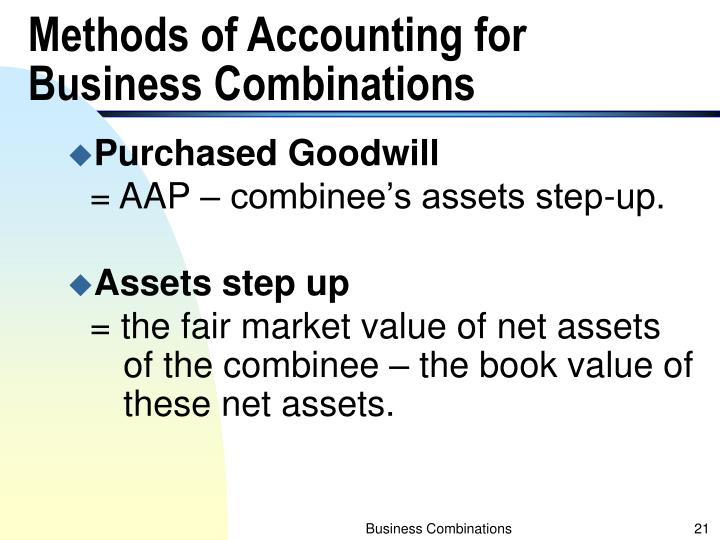 Methods of Accounting for Business Combinations