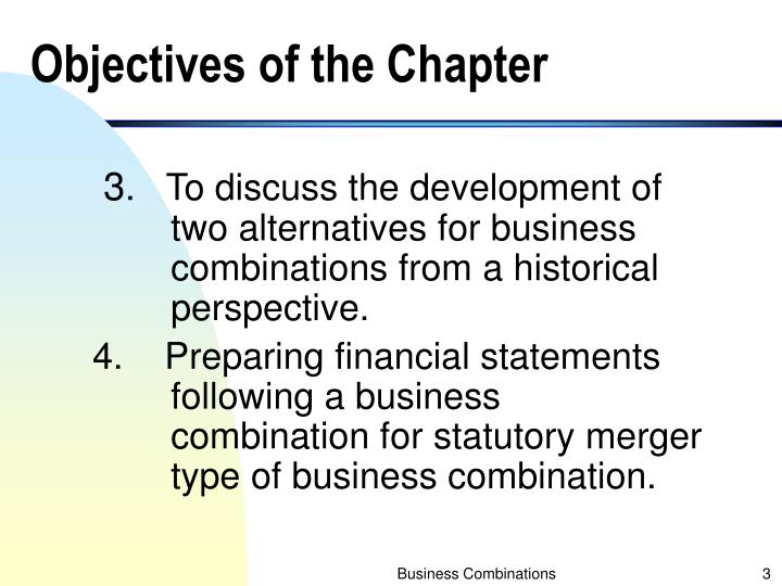 Objectives of the chapter1