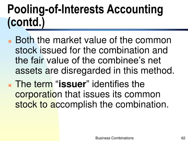 Pooling-of-Interests Accounting (contd.)