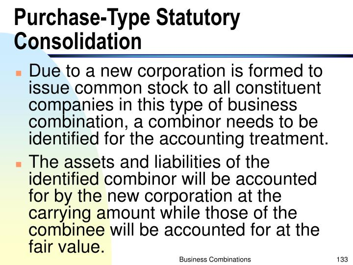 Purchase-Type Statutory Consolidation