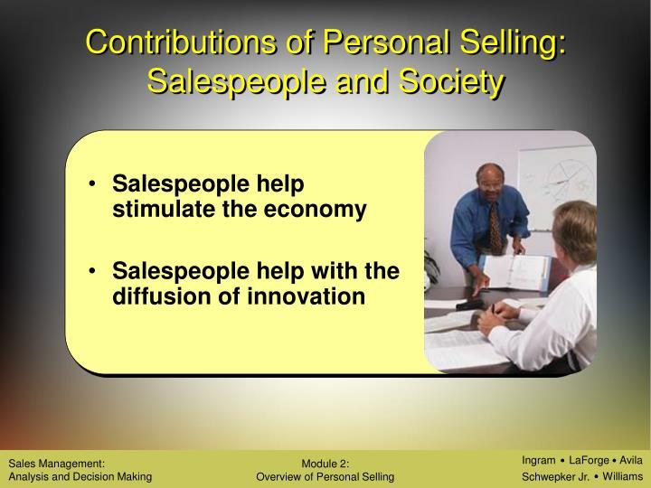 Salespeople help stimulate the economy