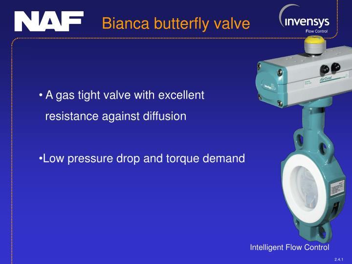 Bianca butterfly valve