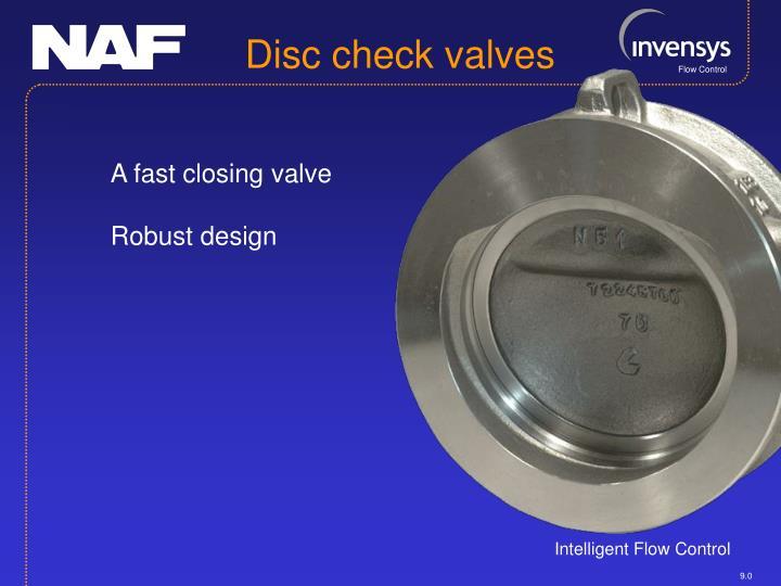 Disc check valves