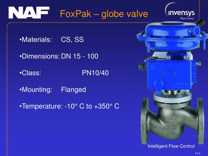 FoxPak – globe valve
