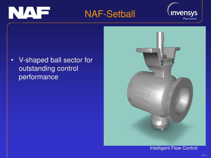 V-shaped ball sector for outstanding control performance
