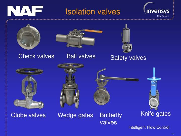 Isolation valves
