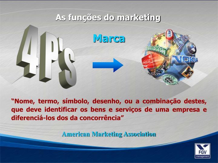 As funções do marketing