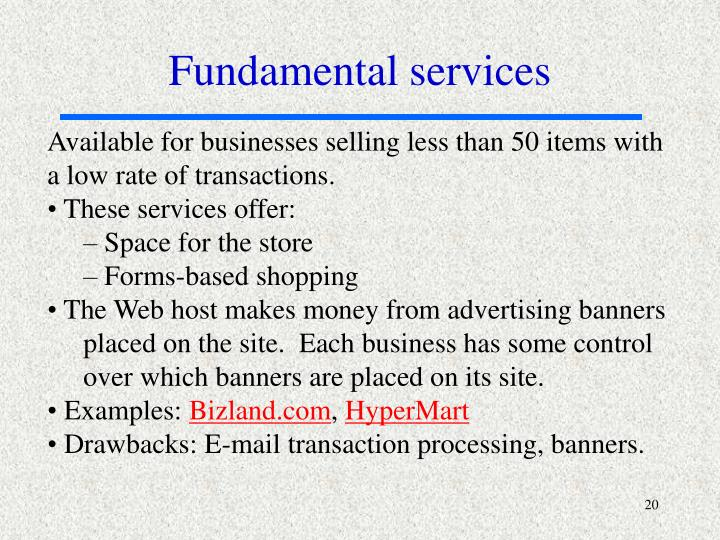 Fundamental services