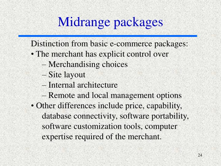 Midrange packages