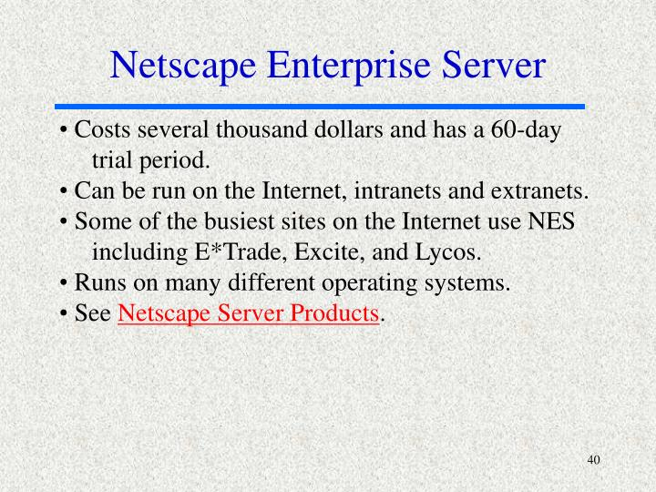 Netscape Enterprise Server