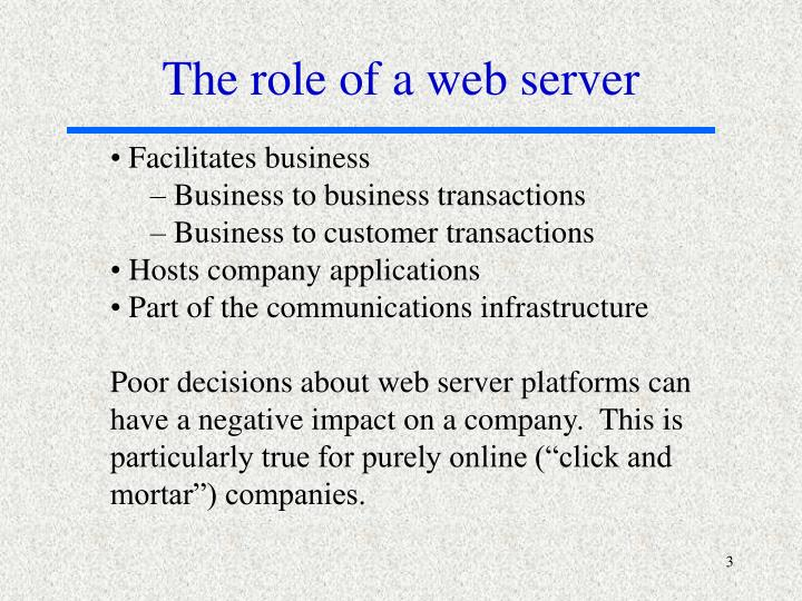 The role of a web server