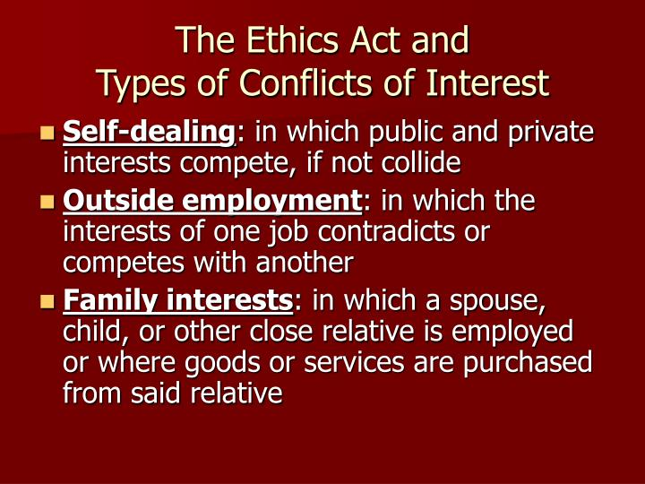 The Ethics Act and