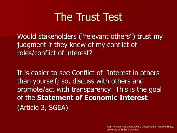 The Trust Test