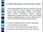 1 identification of decision units