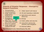 aspects of disaster response emergency support functions