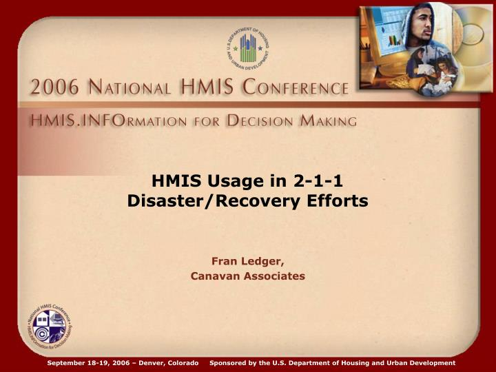 HMIS Usage in 2-1-1
