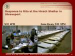response to rita at the hirsch shelter in shreveport1