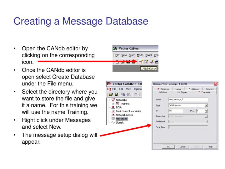 Creating a Message Database