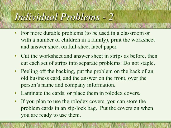 Individual Problems - 2