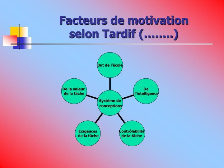 Facteurs de motivation