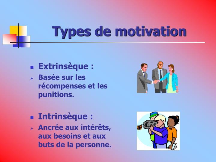 Types de motivation