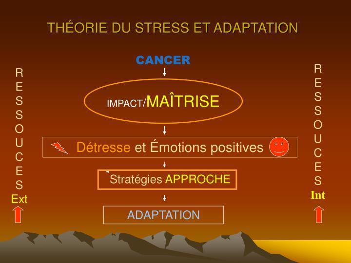THÉORIE DU STRESS ET ADAPTATION