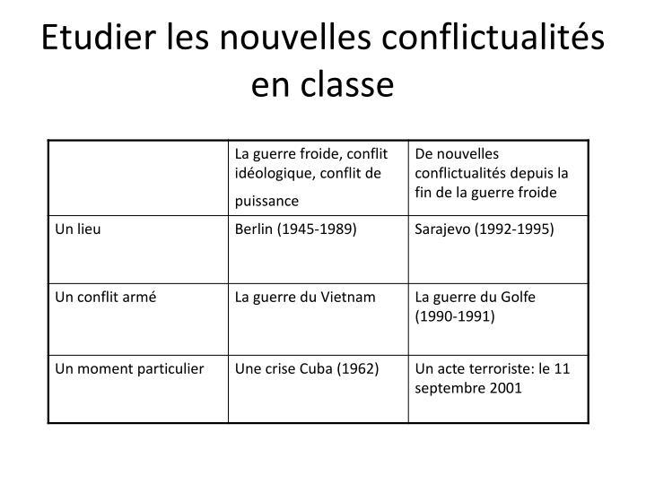 Etudier les nouvelles conflictualités en classe