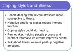 coping styles and illness