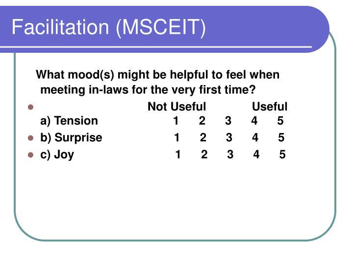 Facilitation (MSCEIT)