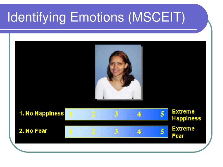 Identifying Emotions (MSCEIT)