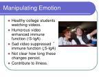 manipulating emotion