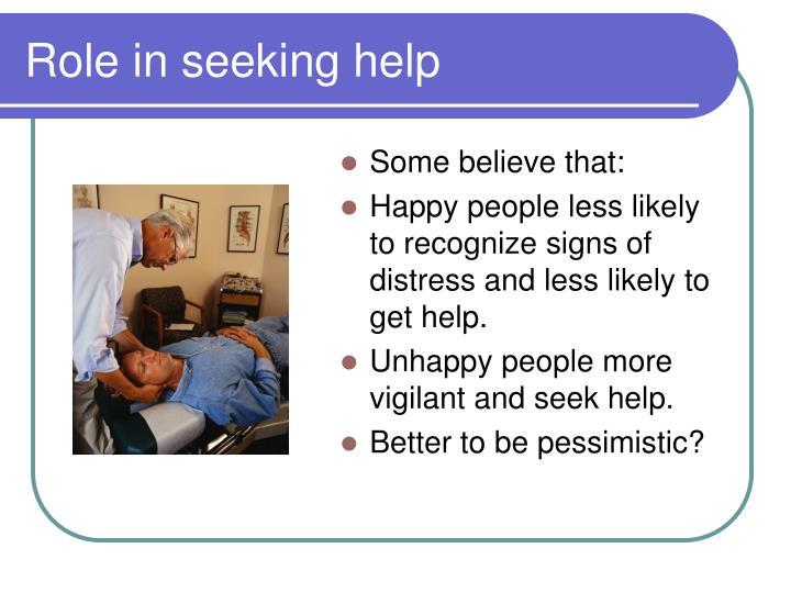 Role in seeking help