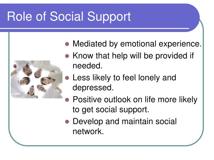 Role of Social Support