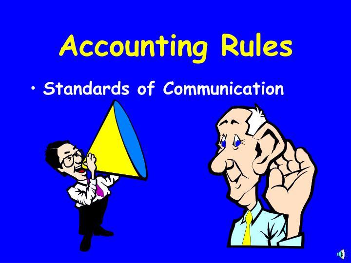 Standards of Communication