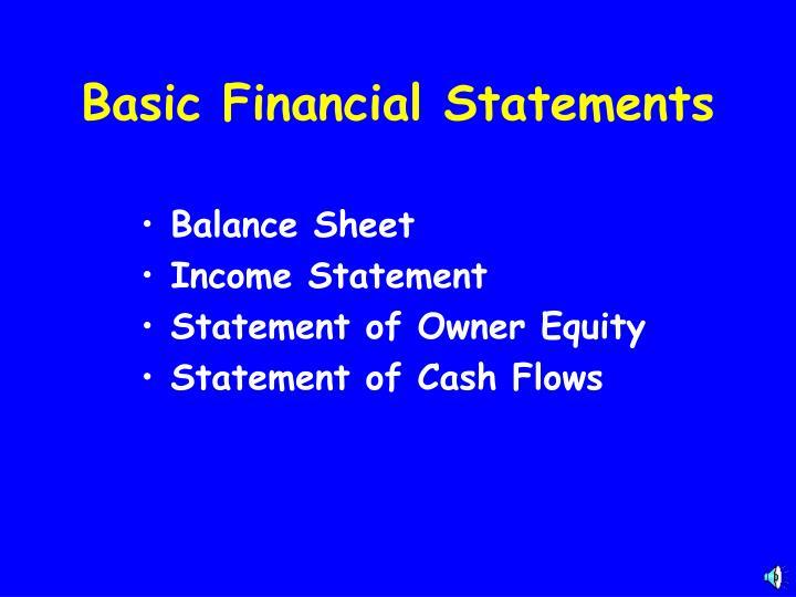 Basic Financial Statements