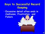 keys to successful record keeping2