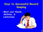 keys to successful record keeping3