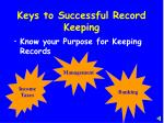 keys to successful record keeping4