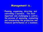 management is